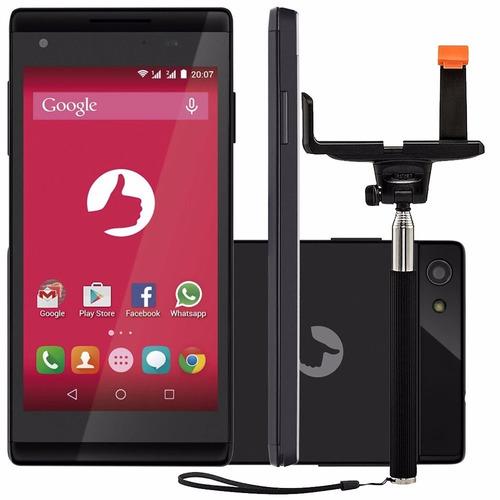 celular positivo selfie s455 câmera 5mp com bastão de selfie
