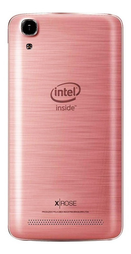 celular qbex w511 intel tela 5.0' dual 3g 16gb 8mp rosa