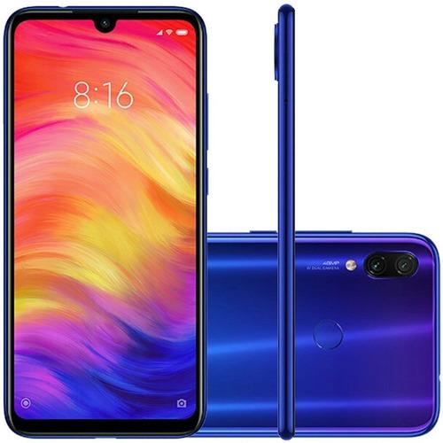 celular redmi note 7 128gb  azul global xiaomi  novo