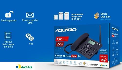 celular rural 2 chip + cabo + antena 20dbi homologado anatel