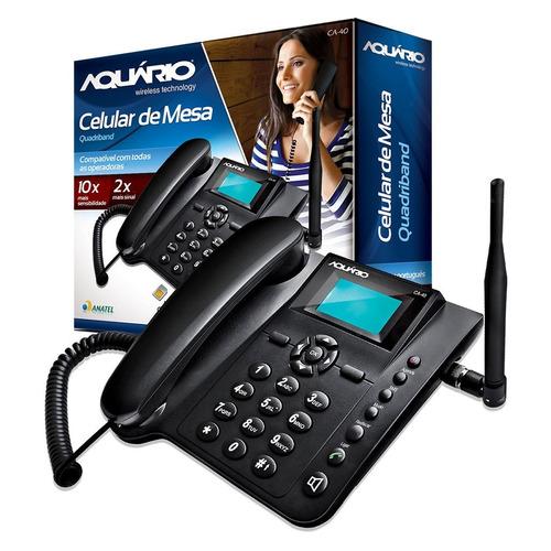 celular rural de mesa fixo aquário ca-40 p/ sinal ruim