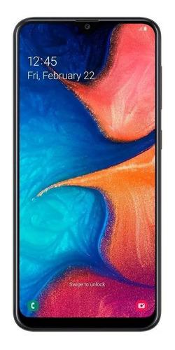 celular samsung a20 preto 32gb 6.4'' 3gb ram 13mp dual