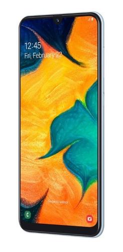 celular samsung a30 branco 64gb 6.4'' 4gb ram 16mp 12x s jur