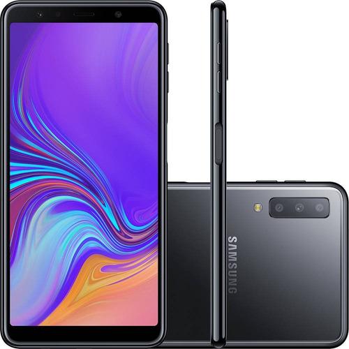 celular samsung galaxy a7 64gb 2018 + nota fiscal + brindes!
