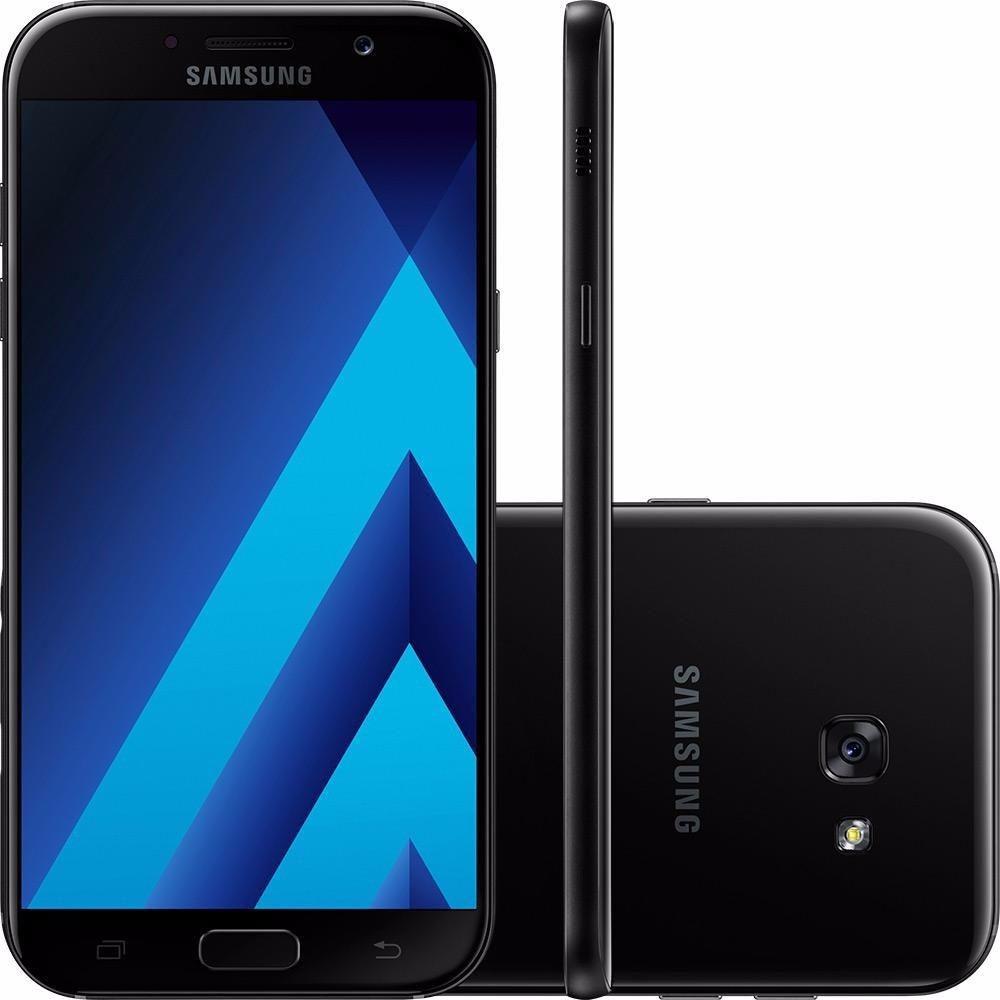 celular samsung galaxy a7 preto 2017 32gb a720f r em mercado livre. Black Bedroom Furniture Sets. Home Design Ideas
