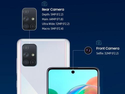 celular samsung galaxy a71 128gb 6gb android 9.0 cam. 32 mp.