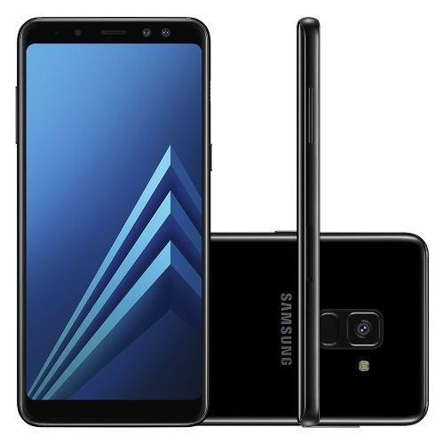 celular samsung galaxy a8 plus 2018 sm-a730f 64gb preto
