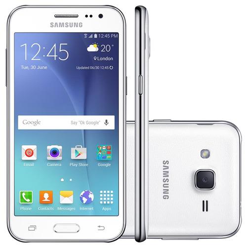 celular samsung galaxy j2 branco, 4g, dual chip, quad-core 1