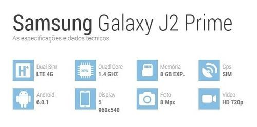 celular samsung galaxy j2 prime sm-g532m - 5.0  8gb - 4g lte