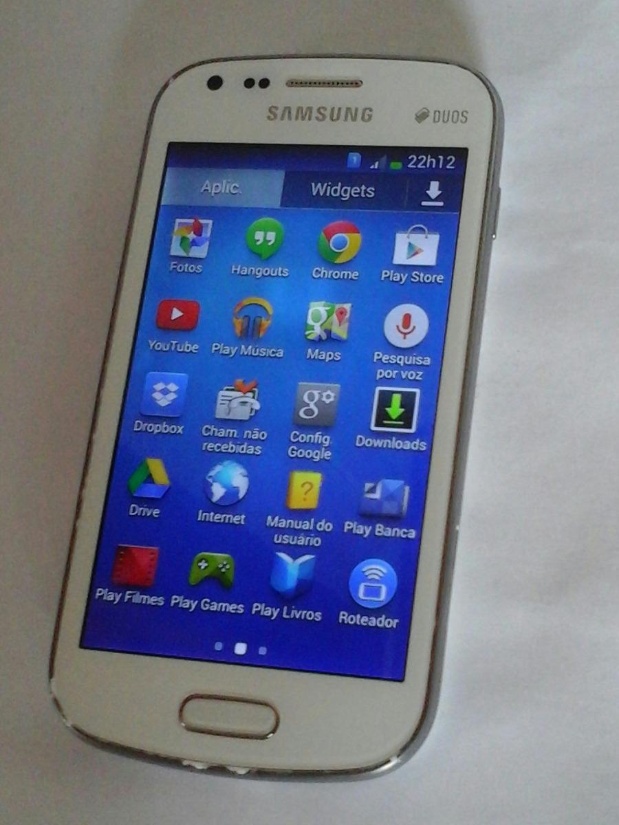 2995d6781 Celular Samsung Galaxy S Duos 2 7582 4gb - R$ 100,00 em Mercado Livre