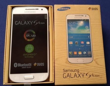 celular samsung galaxy s4 mini i9193 azul  dualcore 8gb