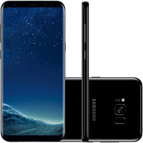 celular samsung galaxy s8+ 128gb preto + capa ametista
