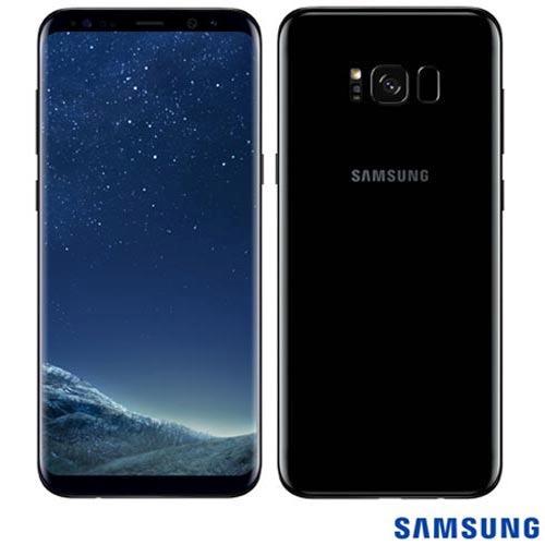 celular samsung galaxy s8 plus preto tela 6,2  64gb sm-g955