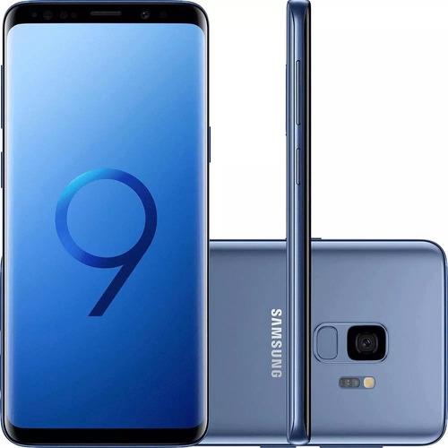 celular samsung galaxy s9 azul tela 5,8 4g 128gb 12mp g960