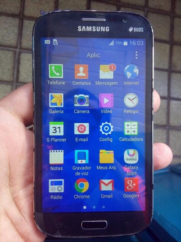 542761ed5 Celular Samsung Gran Duos Funcionando Tudo Somente Marcas - R  244 ...