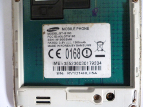 celular samsung s4 mini koreano gt-i9190. pantalla rota