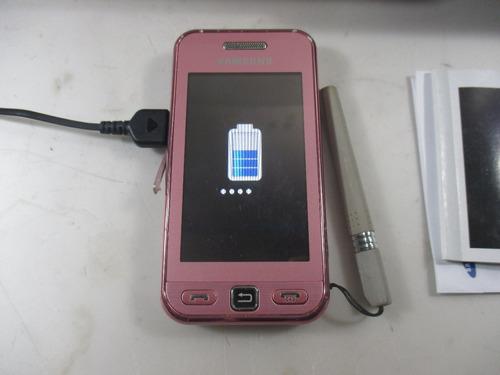 celular samsung star gt-s5230 rosa perfeito na caixa