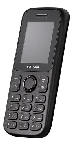celular semp go 1c dual chip, preto, tela 1.8 , câmera 0.3mp, bluetooth, rádio fm