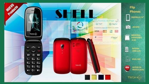 celular shell folder adulto mayor botón de pánico chip 17 dí