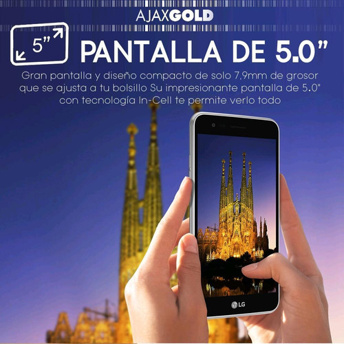 celular smartphone lg k4 lite liberado 4g lte 5.0'' hd libre