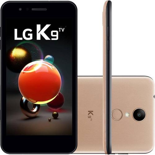 celular smartphone lg k9 x210 dourado tela 5  16gb tv digita