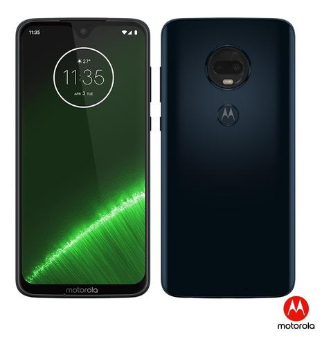 celular smartphone motorola moto g7 plus, indigo, 64gb !