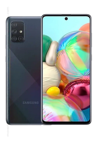 celular smartphone samsung galaxy a71 negro 6.7  4g lte 6gb