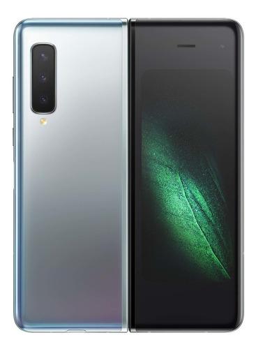 celular smartphone samsung galaxy fold plata 7.3  4g lte 12g
