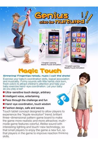 celular smartphone y-phone juguete aprender ingles jugando