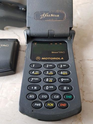 celular star tac motorola + portacelular + bateria extra