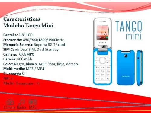 celular tango mini folder adulto mayor chip 17 días gratis