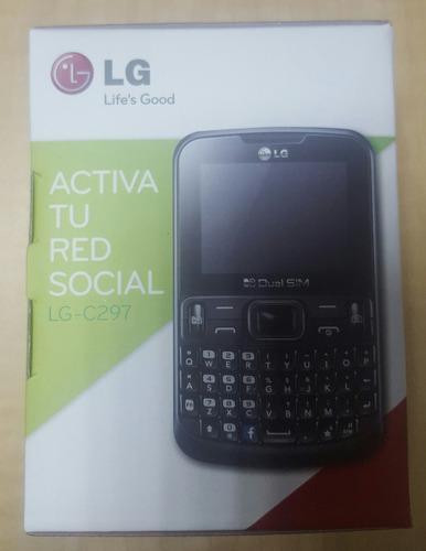 celular telefono lg - c297 memoria dual activa red social