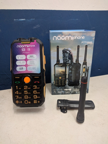 celular uso rudo naomi phone ptt6800 power bank radio