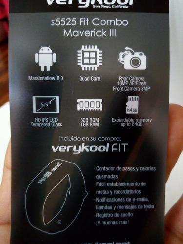 celular verykool s5525 maverick iii + reloj digital