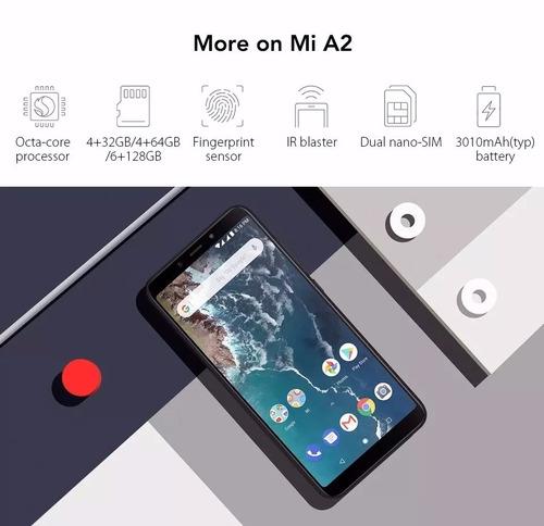 celular xiaomi a2 64gb 4gb ram snapdragon 660+1capa+pelicula