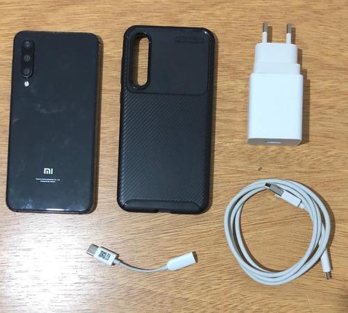 celular xiaomi mi 9 se + tpu negro + mi band 4 + 2 pulseras.