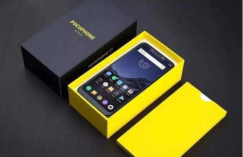 celular xiaomi pocophone f1 dual 64gb/6gb azul+pelicula
