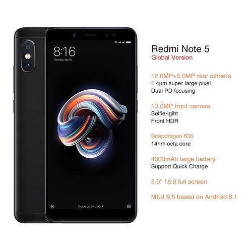 celular xiaomi redmi note 5 64gb 4gb 5.99pol + capa pelicula