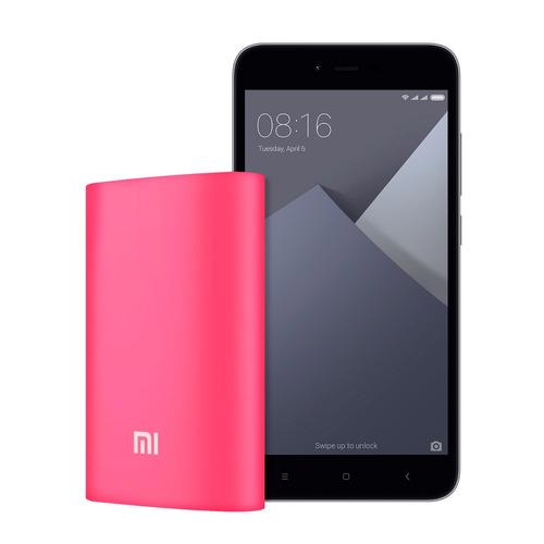 celular xiaomi redmi note 5a gris + powerbank 10000 mah