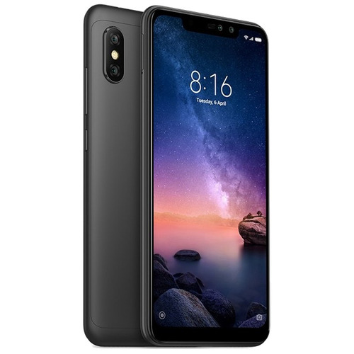 celular xiaomi redmi note 6 pro 64gb+micro16gb+fone+capa+pel