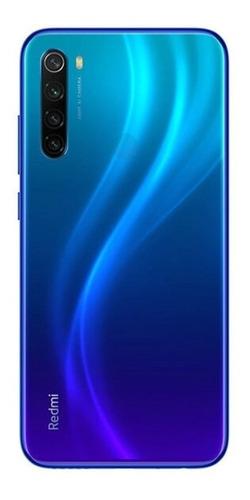 celular xiaomi redmi note 8, 128gb, gama alta, negro y azul