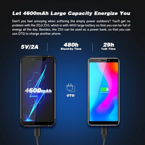 celular zoji z33 - resistente a golpes version 2019 / asus