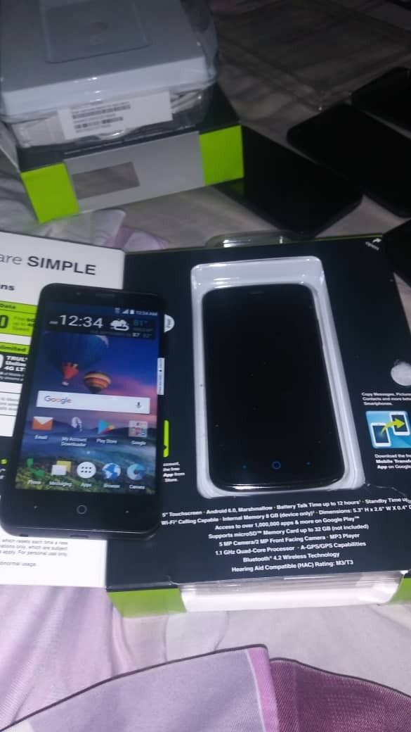 Celular Zte Modelo Z557bl