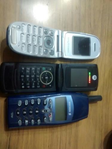 celulares 2 para repuesto y uno antiguo