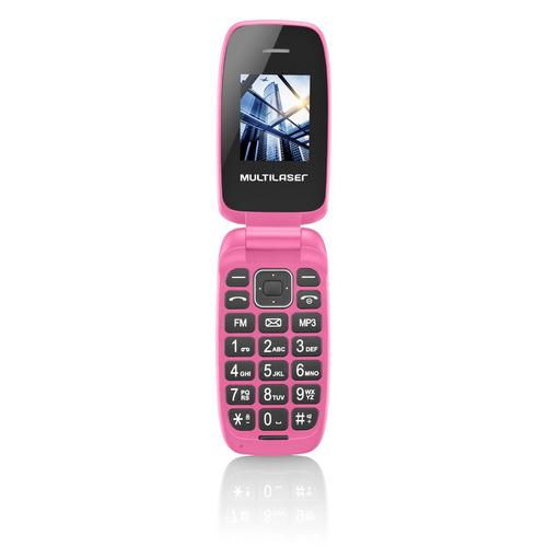 celulares baratos originais  novos flip c/ camera fm bt rosa