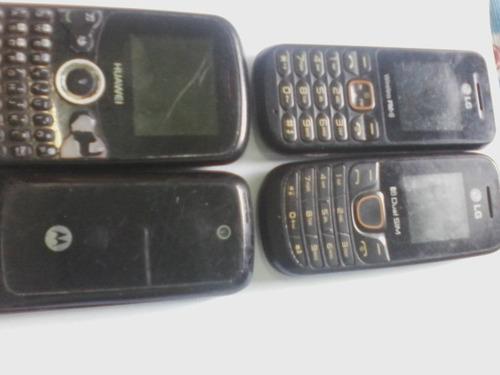 celulares lote com 4 -lg-motorola-funciona-leia o anuncio