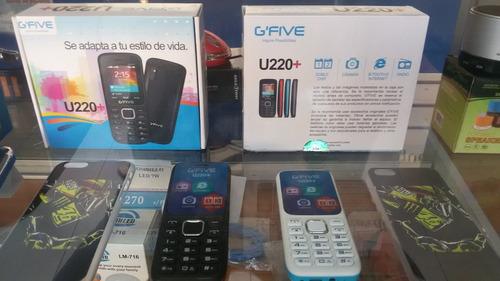 celulares nuevos g five u220, liberados