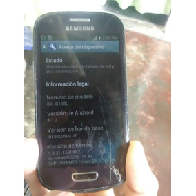Samsung S3 Mini Gt I8190 Liberado Detalle Reparar O Repuesto