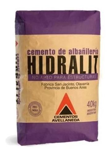cemento de albañilería x 40kg. hidralit hiemar