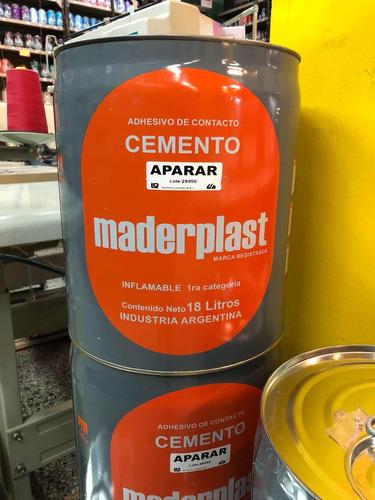 cemento de aparar 4 litros maderplast